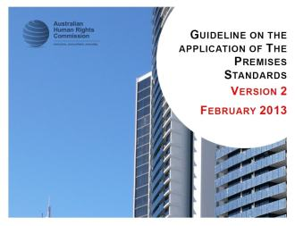 Guideline on the Application of the Premises Standards (Version 2 February 2013) Cover