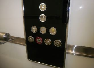 Passenger Lift Car Control Buttons with Braille and Tactile Characters