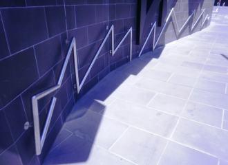 Zig zag style handrail